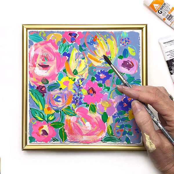 Painting inside a frame
