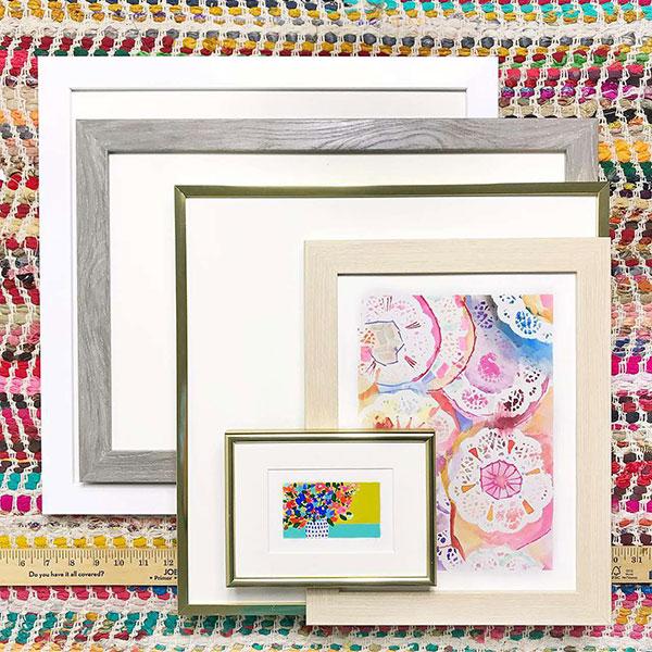 Variety of custom frame options
