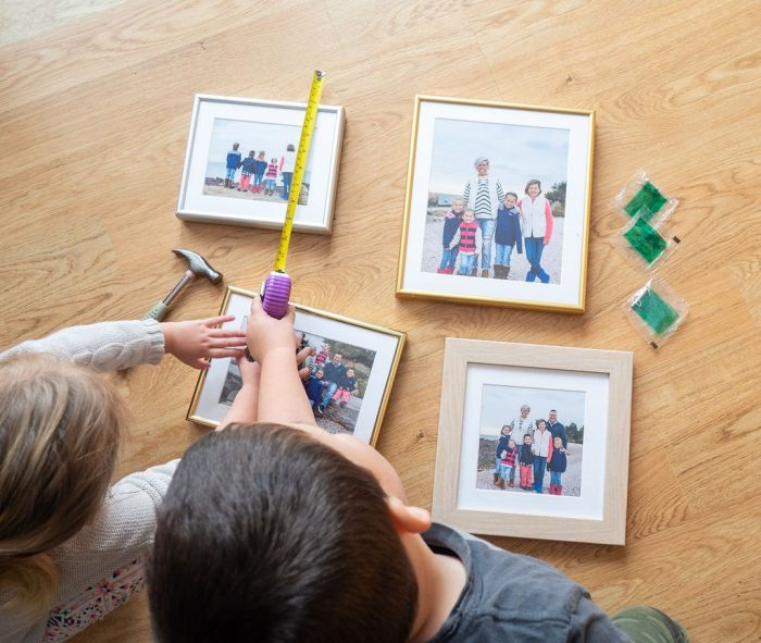 Everything you need to create a picture frame collage