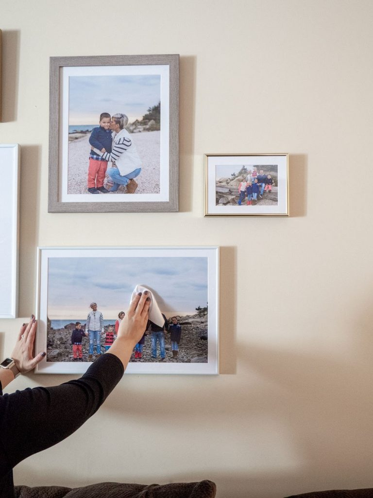 Use a microfiber cloth to keep your picture frames clean