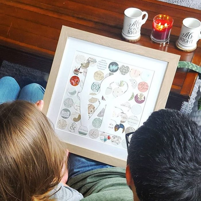 Craft a framed weeding keepsake