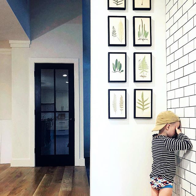 Black frame gallery wall