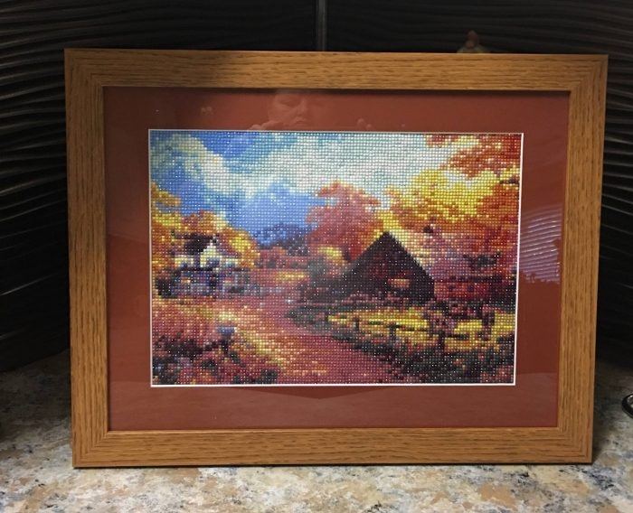 Diamond art painting frame