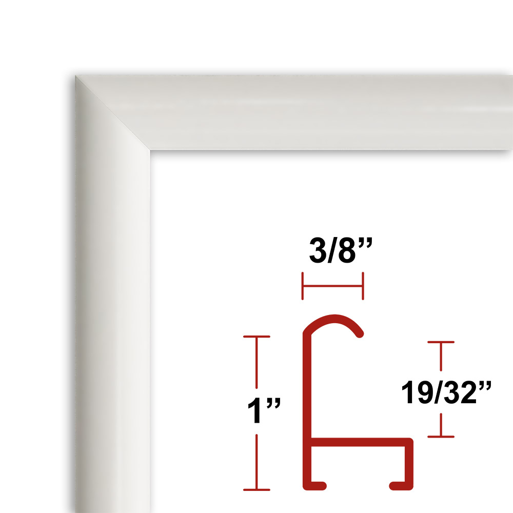 15 White Picture Frame