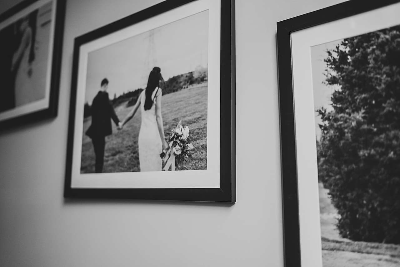 Framed wedding portrait