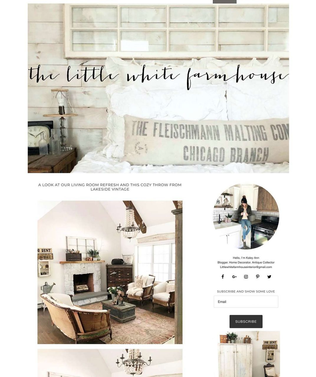 Little White Farmhouse website