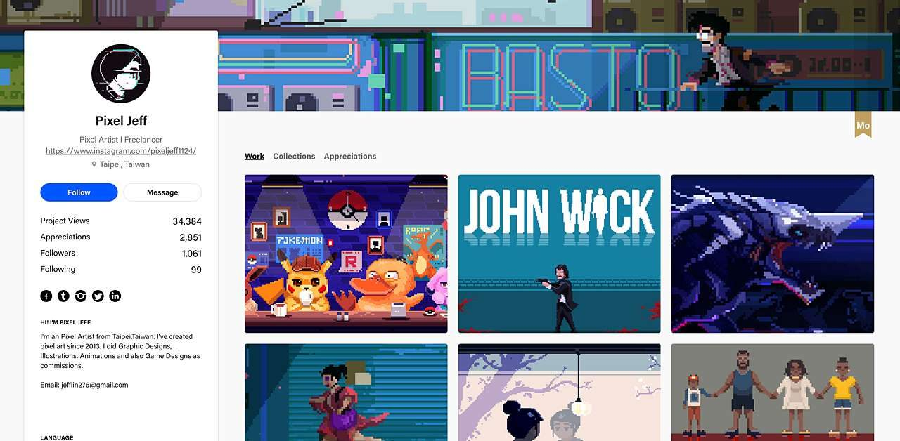 Pixel Jeff Behance