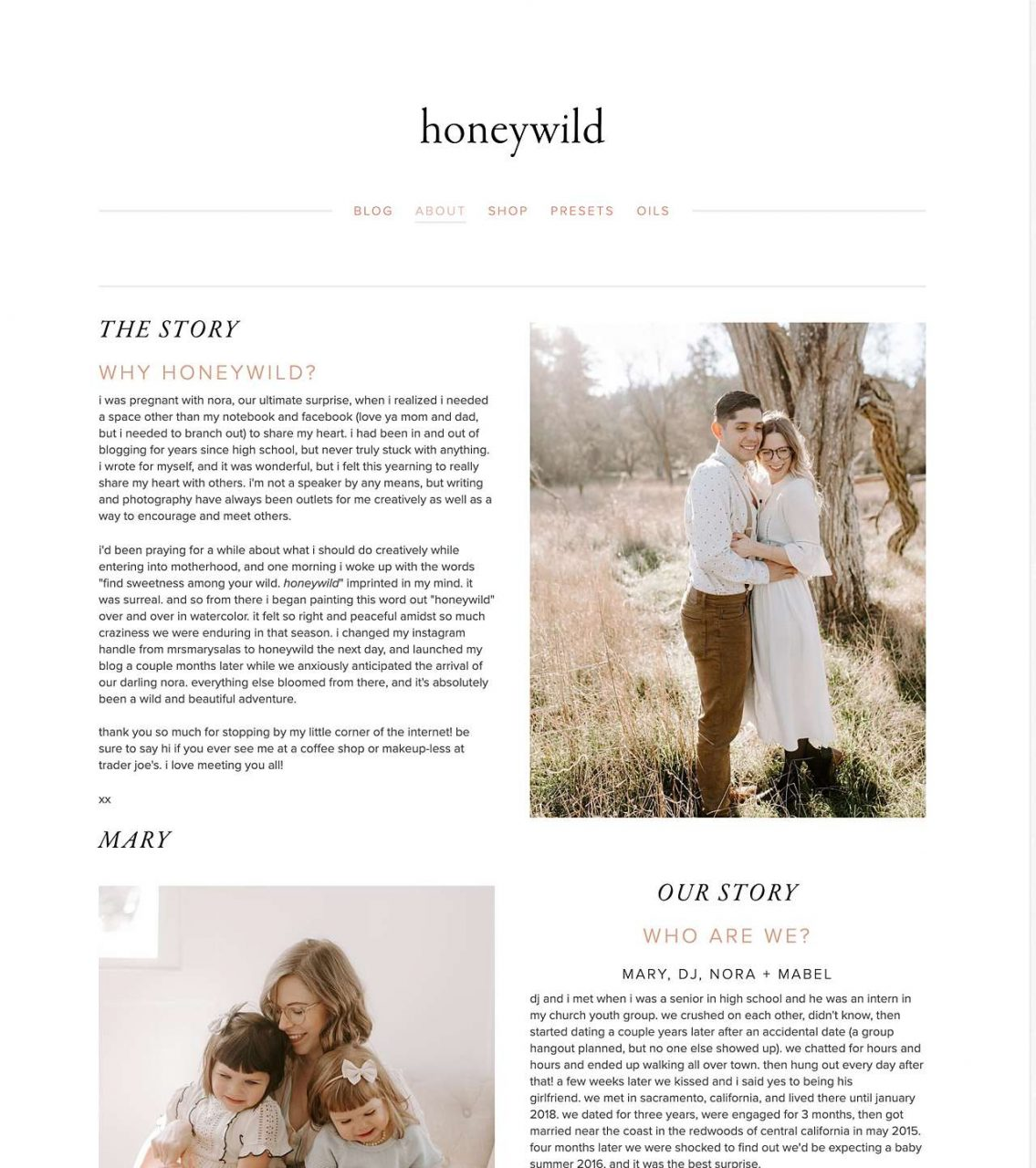 honeywild website