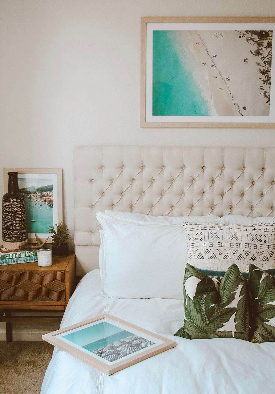 bedroom beach frame