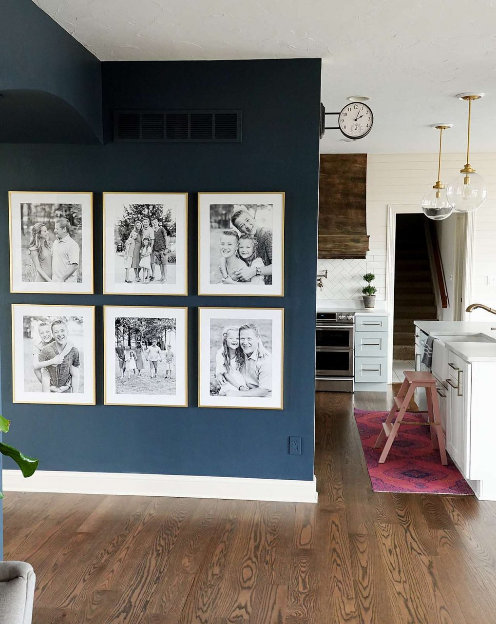 gold frame 3x2 gallery wall