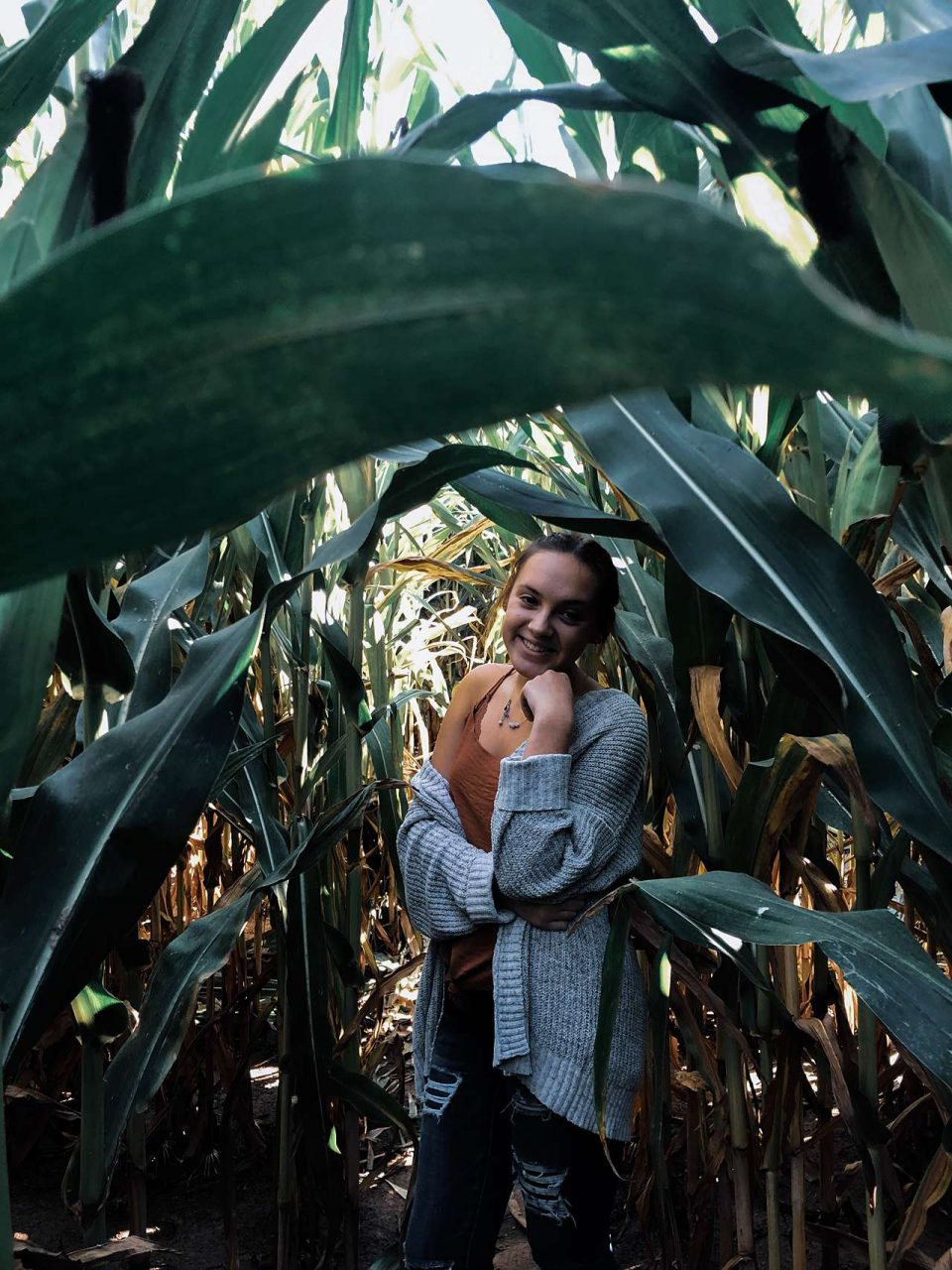 girl in corn field