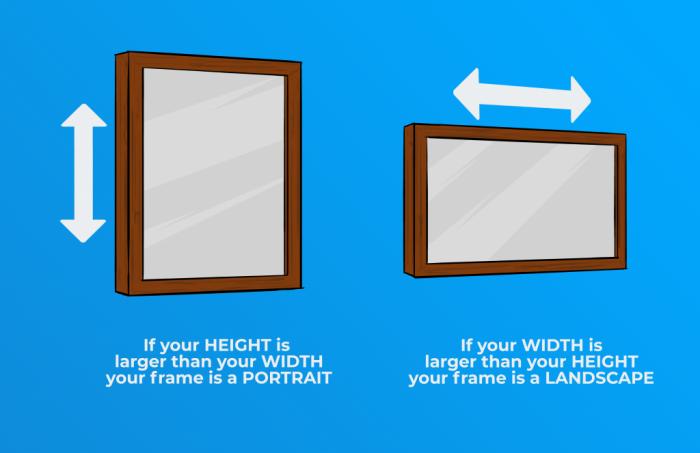 Orientation: Portrait vs. Landscape