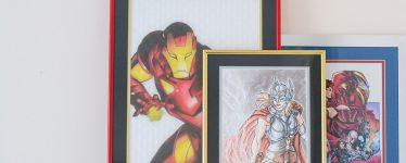 Custom framed art