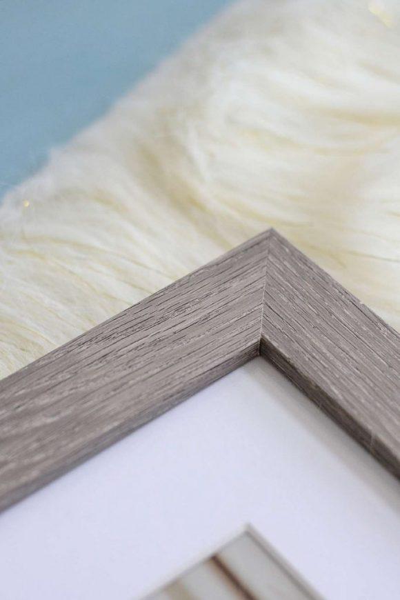 Gray wood frame