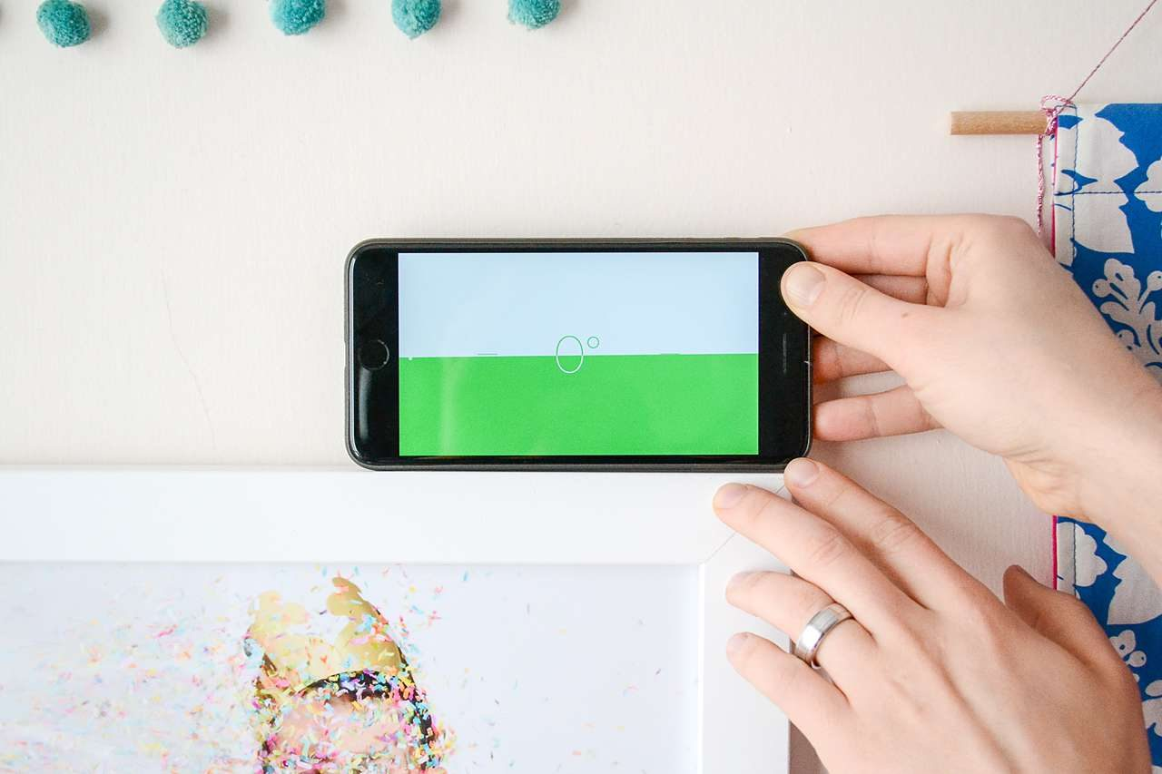 Use your iPhone to make sure picture frames are level