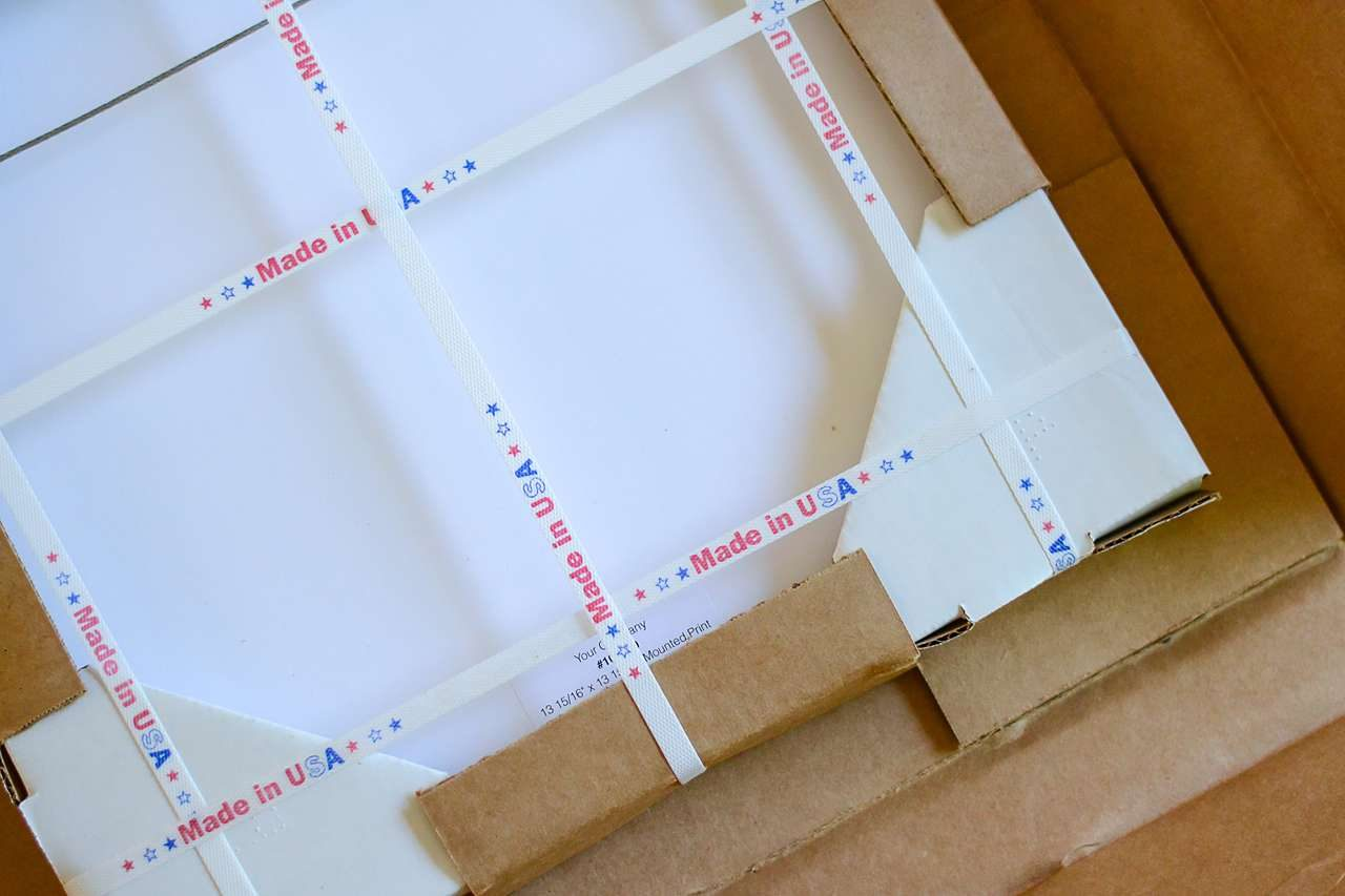 Custom picture frames ship securely with custom packaging