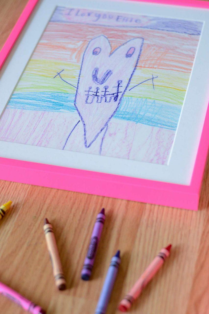 Frame kid's artwork