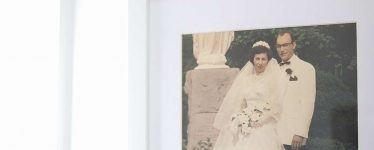 White wood picture frame with acrylic cover