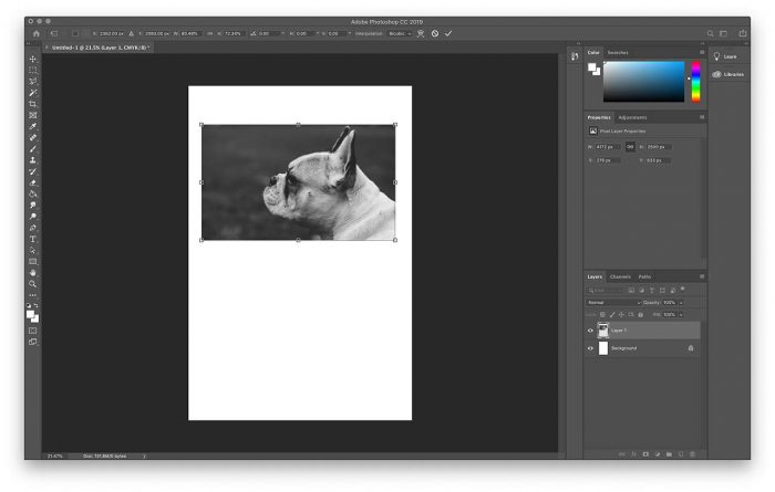 Format photos for picture framing using Photoshop