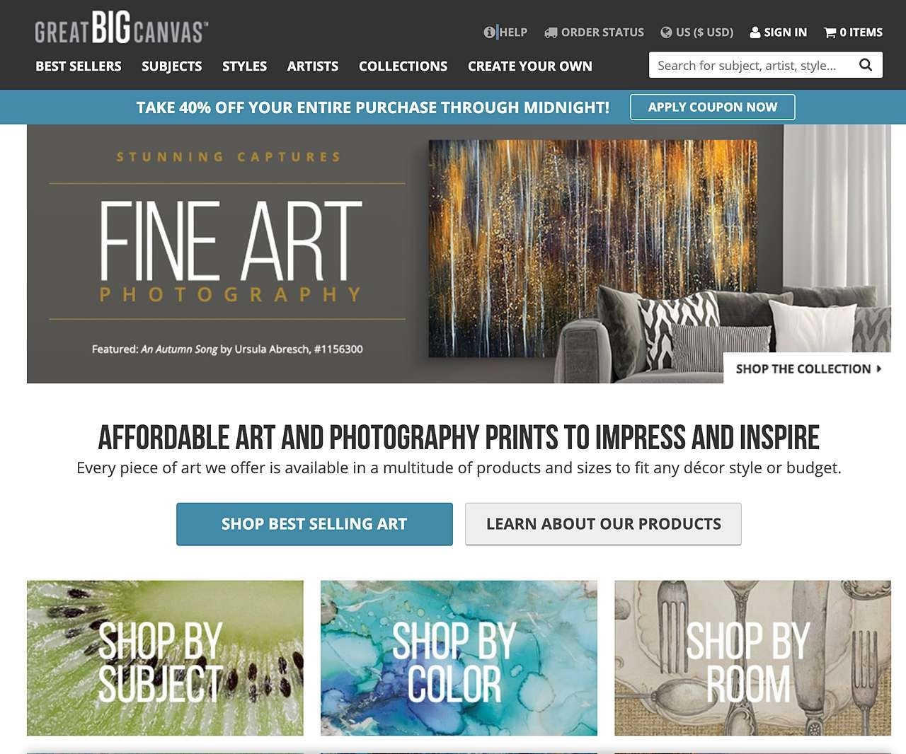 Find art online at Great Big Canvas