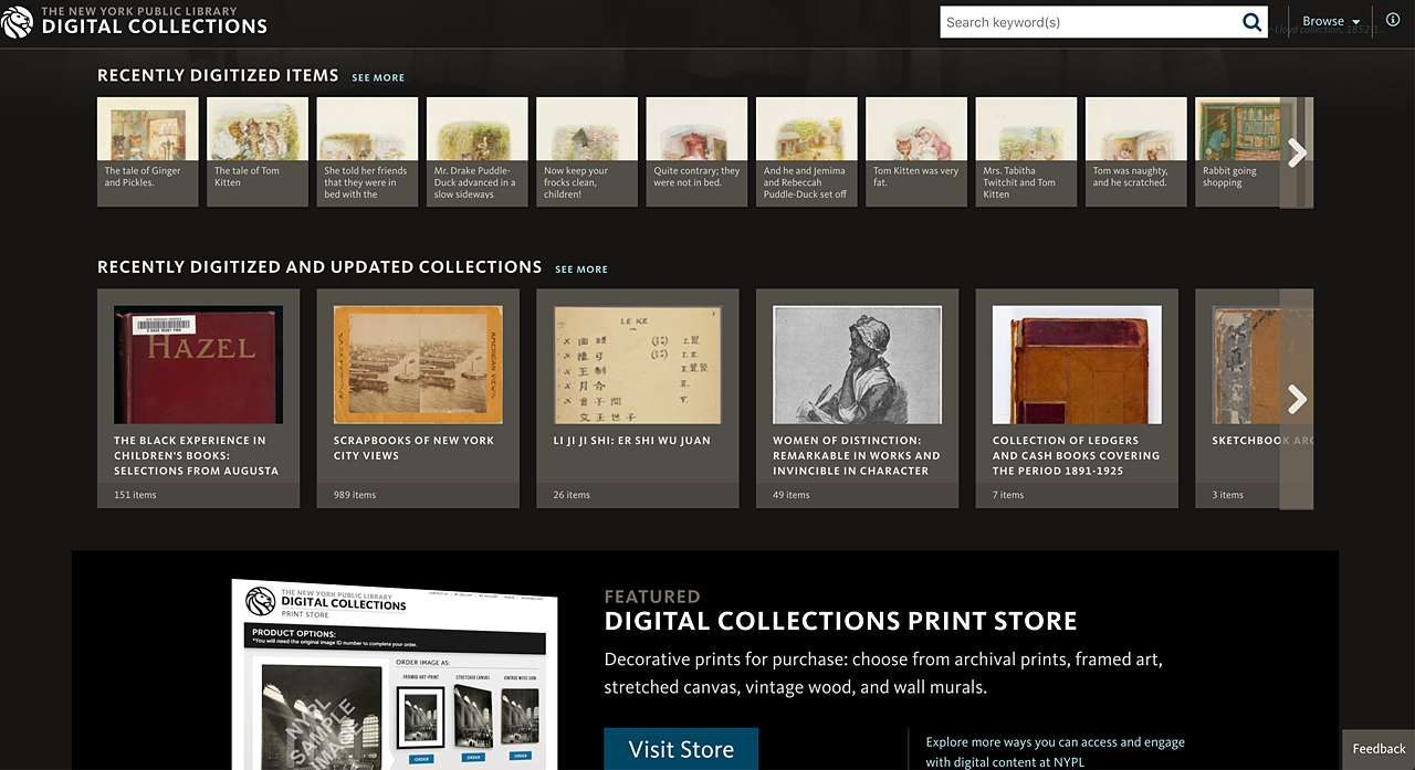Find art online at NYPL