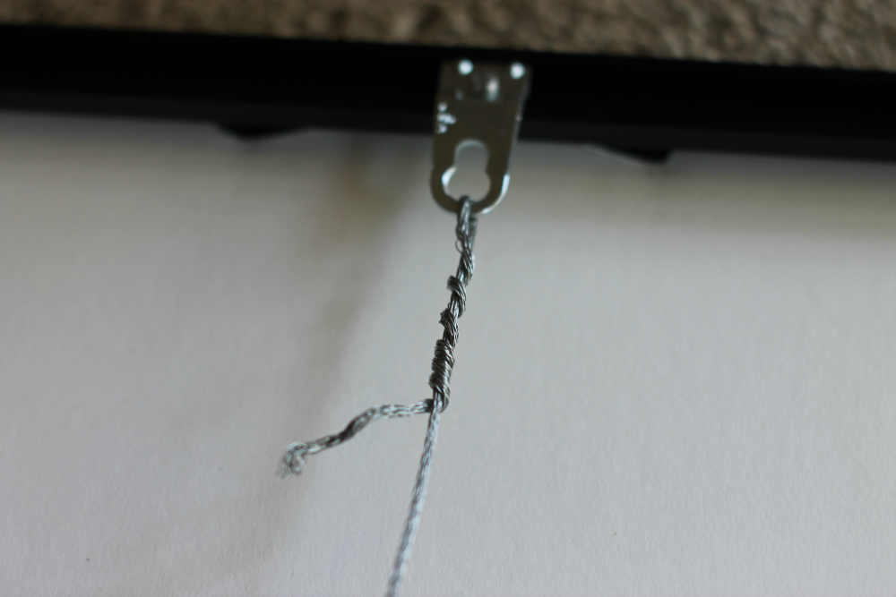 Metal Picture frame Euro Hangers with Hanging Wire