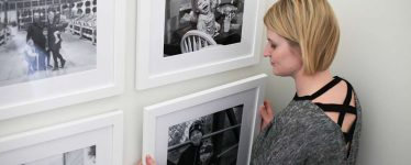 White picture frame gallery wall
