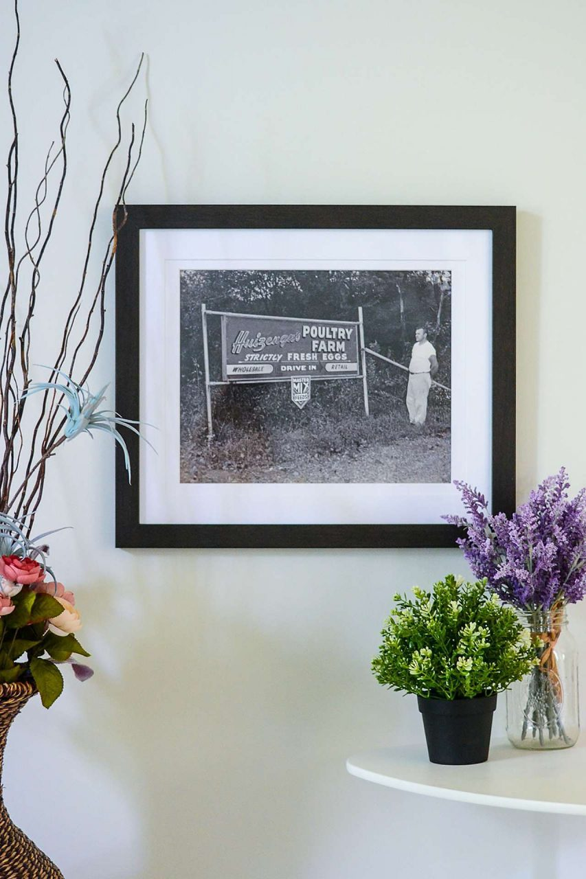 Father's Day Gift Idea - Farm Sign - Black Picture Frame