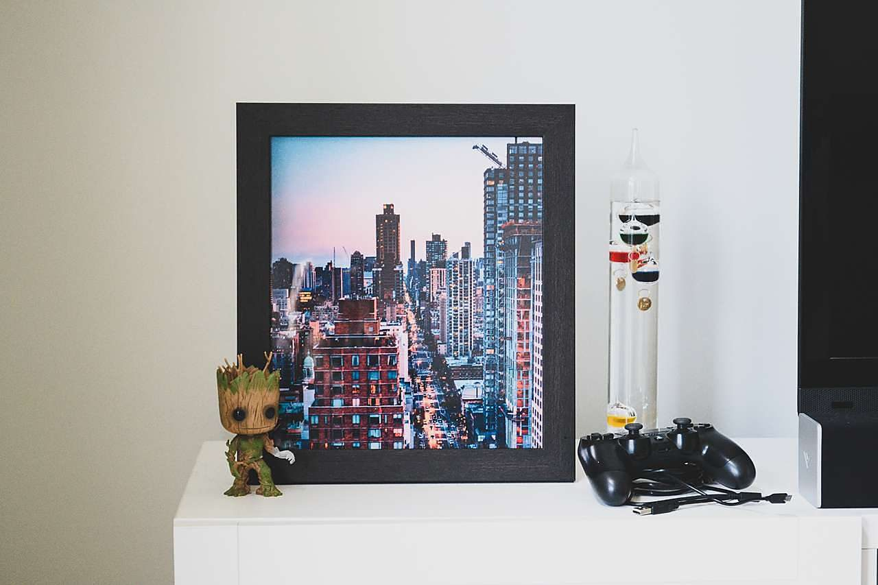 Father's Day Gift Idea - Black Picture Frame of Cityscape