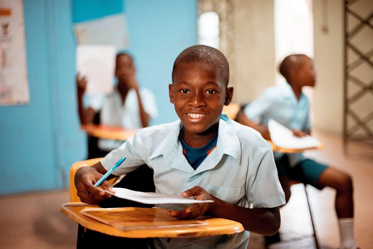 Child at school photo
