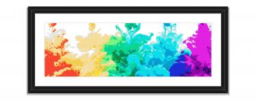 Rainbow Colorful Pixel Art