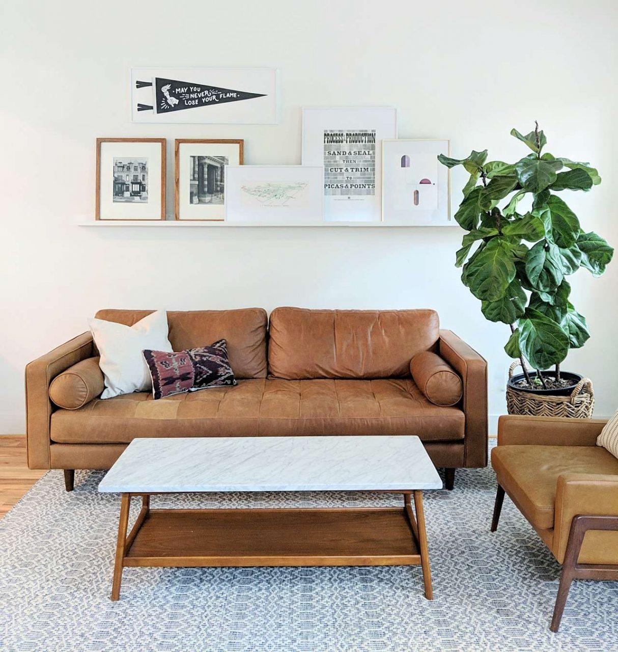 living room frame ledge