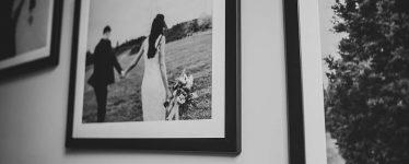 Framed wedding portrait