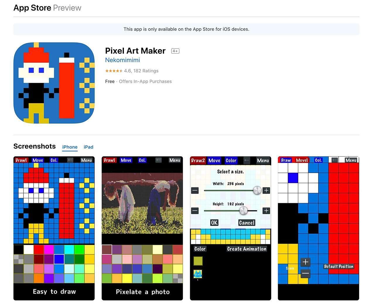 Pixel Art Maker app
