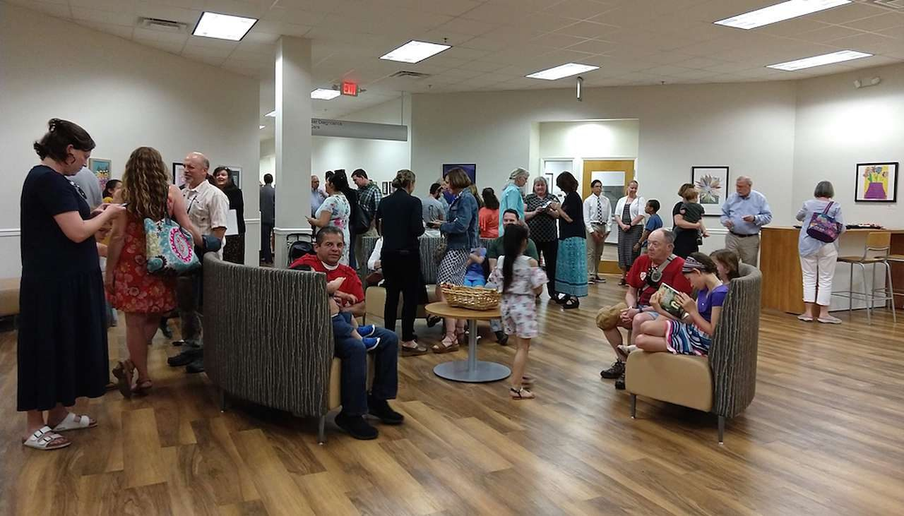Gallery audience at Maryland Hospital