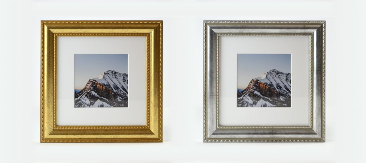 Granby ornate frame gold and silver by Frame It Easy