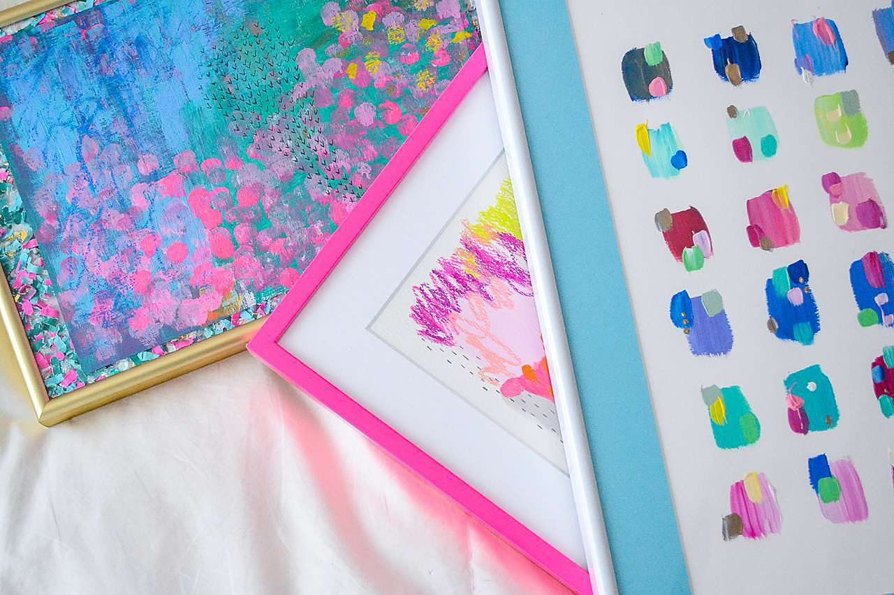 colorful art frames