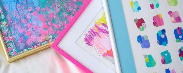 colorful art frames