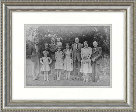 framed family portrait