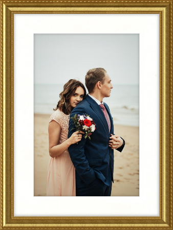 wedding photo frame gold