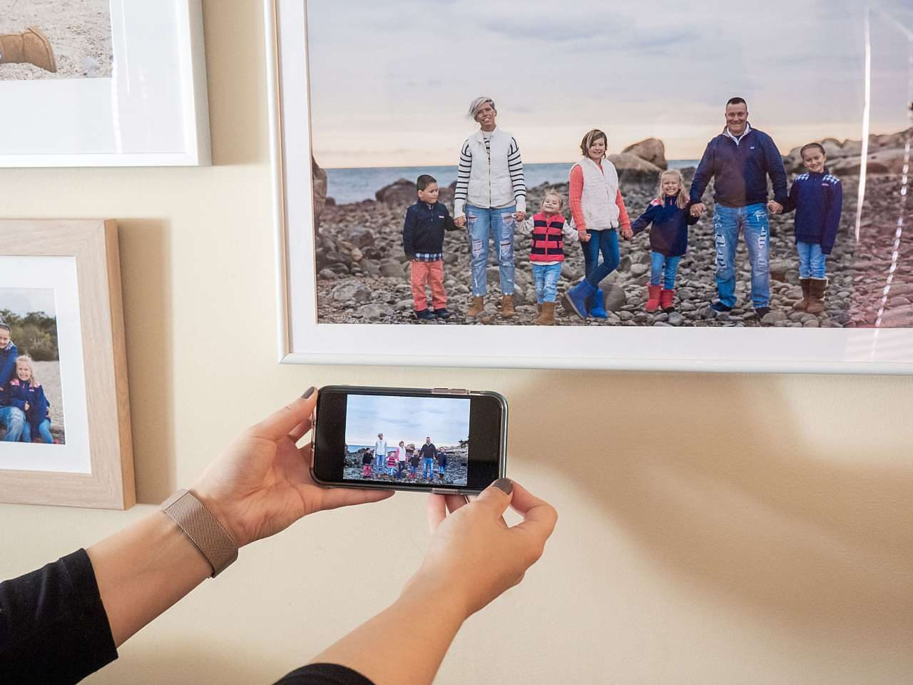 Print and frame phone photos of family