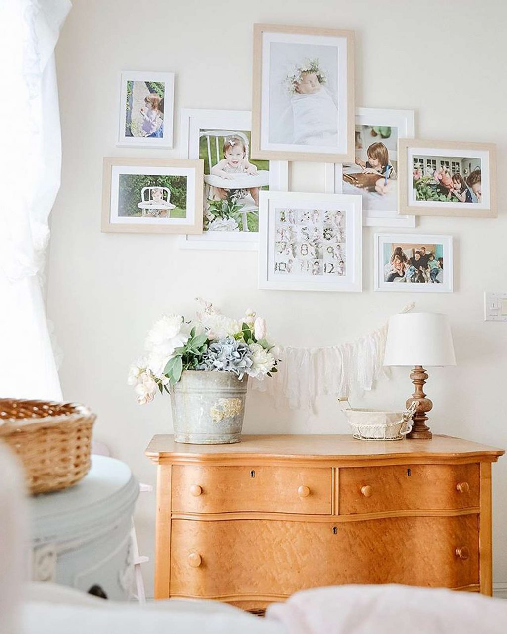 Layered gallery wall