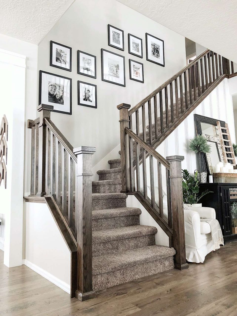 Modern staircase picture frame gallery