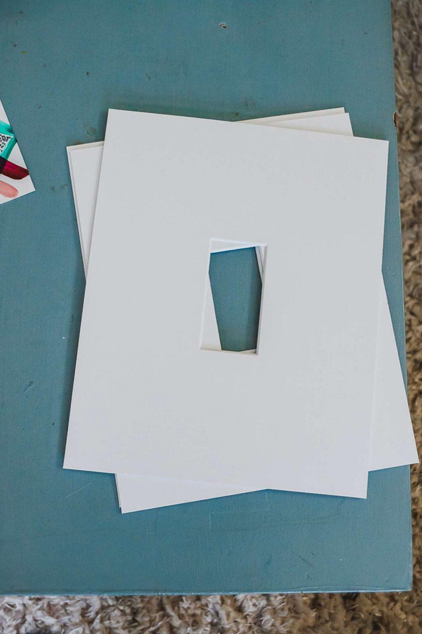 white mat board