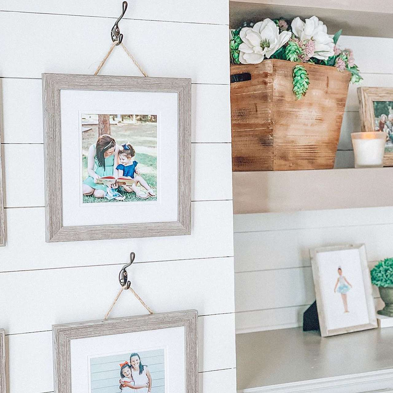 rustic hanging picture frame
