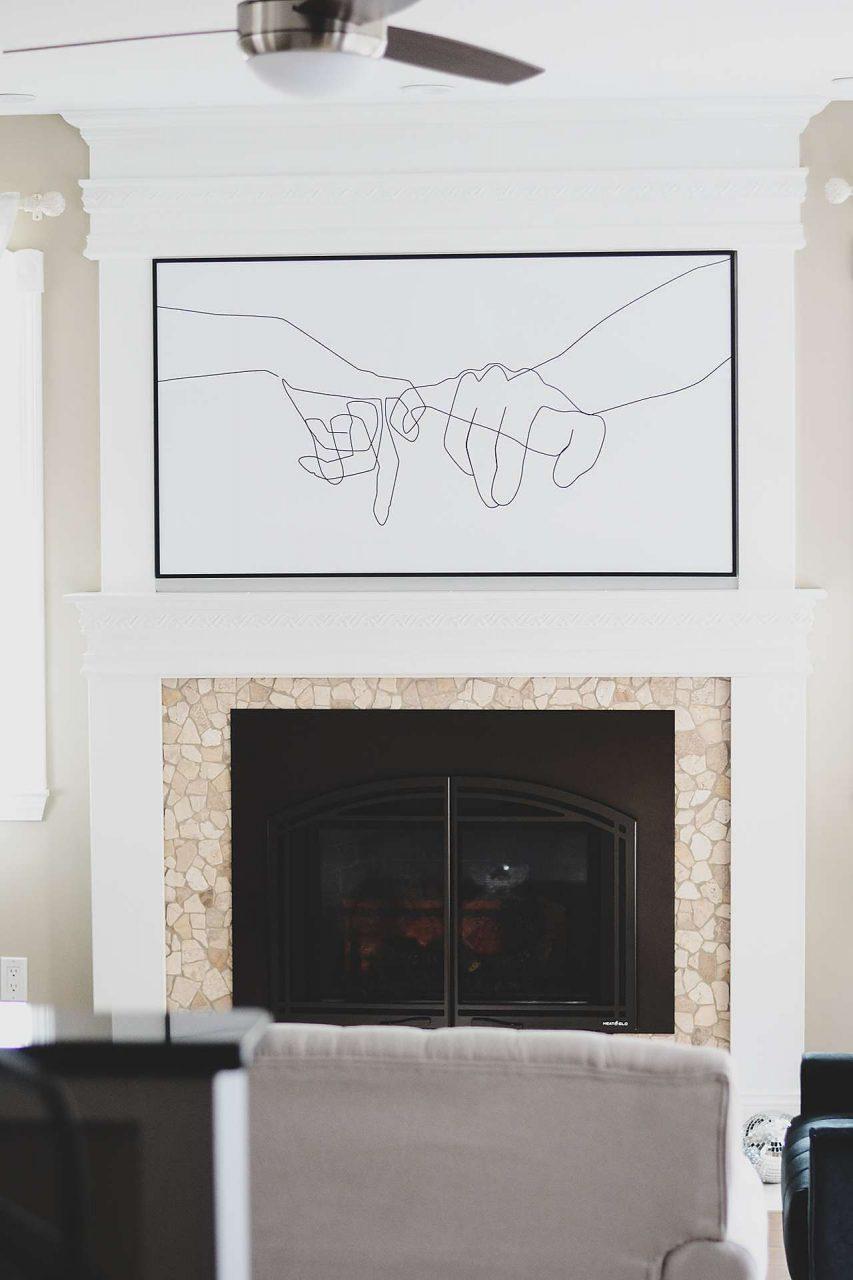 large metal poster frame