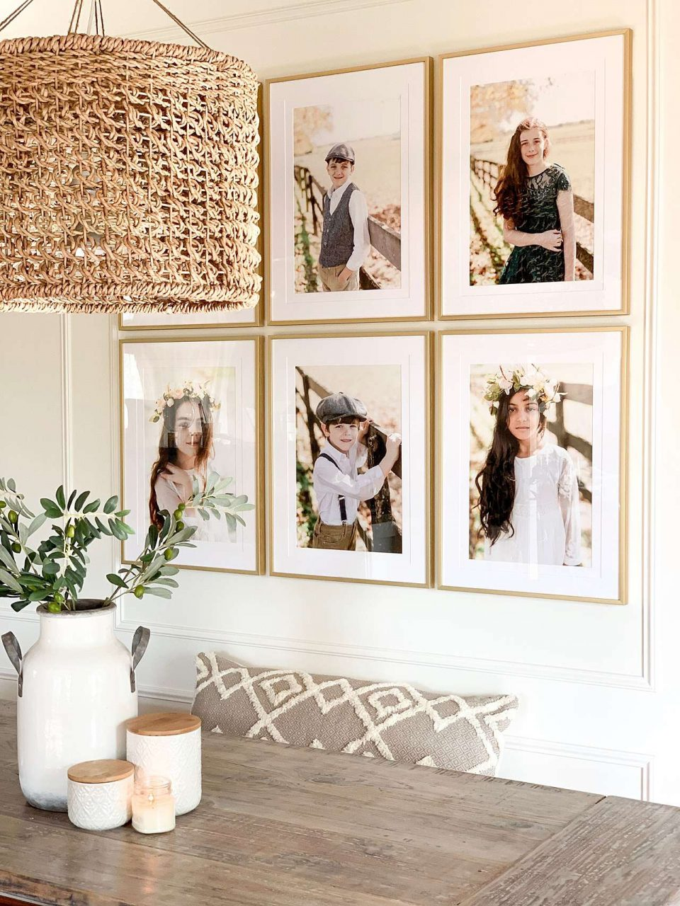 3x2 gallery wall