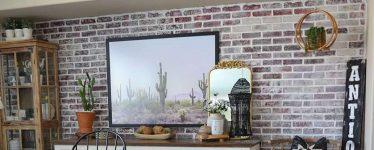 dining room brick wall