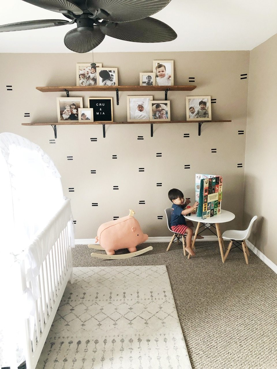 Child reading in his room