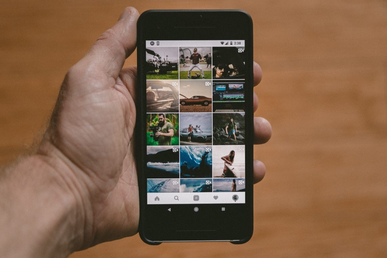 instagram feed with videos and travel